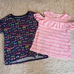 2 girls size 8 shirts both NWOT.